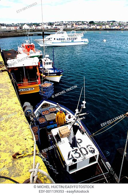 Return fishing port of Camaret Finistere France