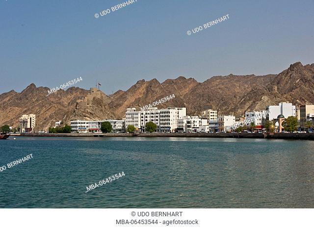 Arabia, Arabian peninsula, Sultanate of Oman, Muscat, Muttrah, Corniche, Al-Bahri-Road