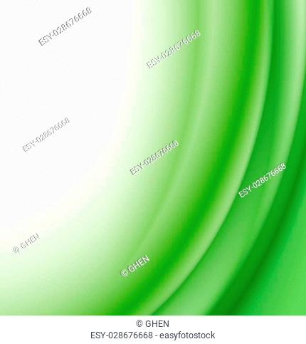 Abstract green waves background. vector