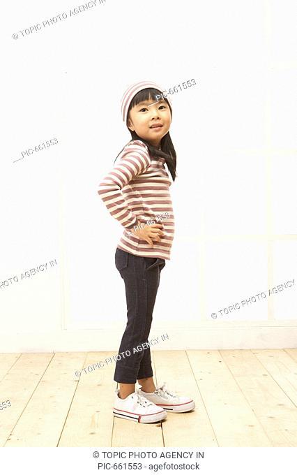 Korean Girl Posing for Photograph