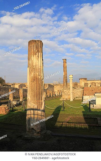 The Ancient Roman Town of Pompeii, Italy