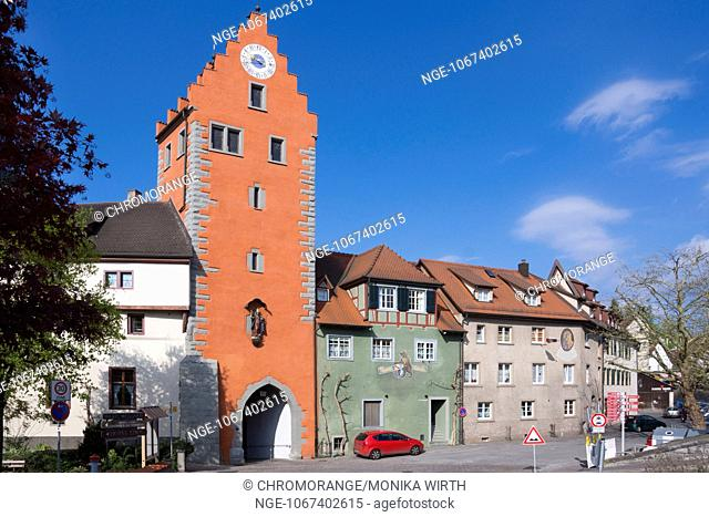 Obertor, town gate, Lake Constance, Meersburg, Baden-Wuerttemberg, Germany, Europe