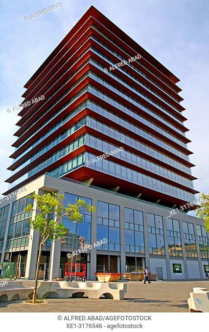 Marina tower, Zona Franca, Barcelona, Catalonia, Spain