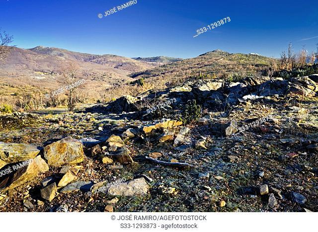 Sierra Norte from the Morra de la Dehesa La Hiruela Madrid Spain