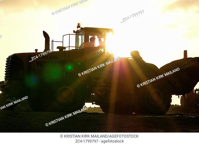Heavy builder at work