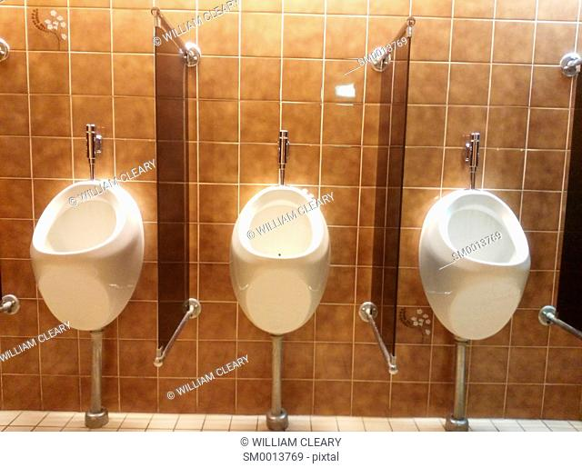 Urinals in a hotel toilet, Nijmegen, Netherlands