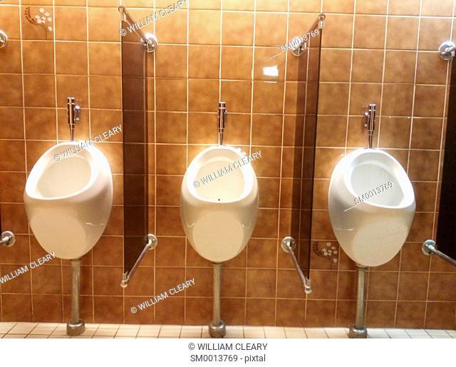 Urinals in a hotel toilet, Nijmegen, Netherlands