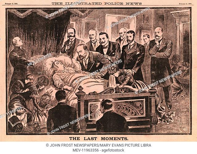1901 Illustrated Police News Queen Victoria on her deathbed