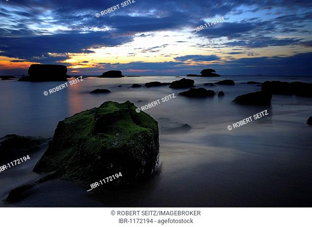 Twilight at the Asian Sea, Phukok, South Vietnam, Southeast Asia