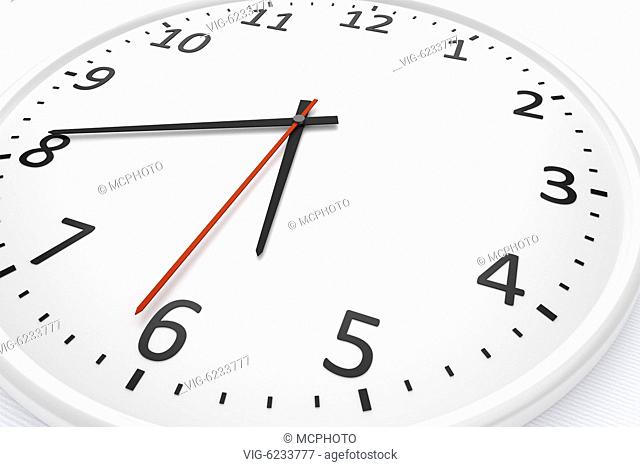 3d rendering of a white clock detail - 01/01/2018