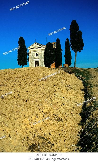 Chapel Vitaleta Val d'Orcia Tuscany Italy