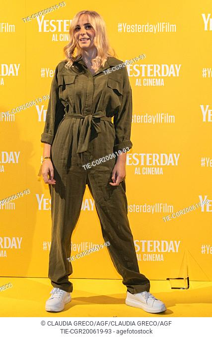 Cara during the photocall of film ' Yesterday ' in Milan, ITALY-20-06-2019