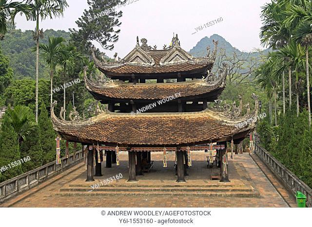 Entrance to Pagoda Leading to Heaven at the Perfume Pagoda complex near Hanoi Vietnam