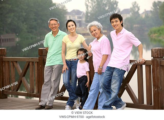 Chinese Families Picnicing Outdoors,Beijing,China