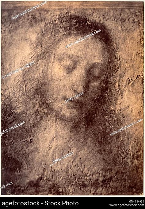 Drawing of Christ from Leonardo da Vinci's The Last Supper. Artist: Léon Gérard (French, active 1857-61); Date: 1857-61; Medium: Albumen silver print from paper...