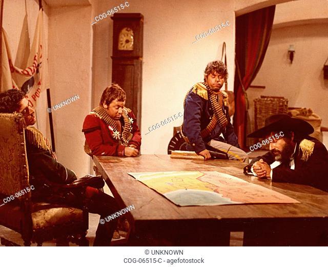 Paolo Villaggio, Lino Toffolo, Enrico Montesano e Oreste Lionello in the movie I Quattro del Pater Noster, 1969