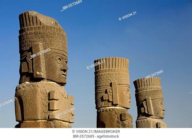 Atlantean figures, Tula, Aztec archeological site, Tula de Allende, Hidalgo, Mexico