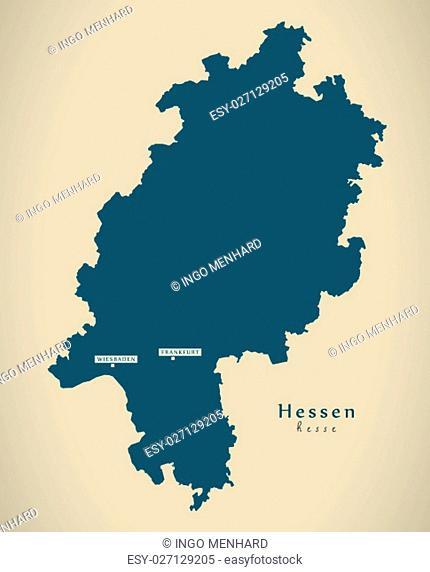 Modern Map - Hessen DE new design refreshed