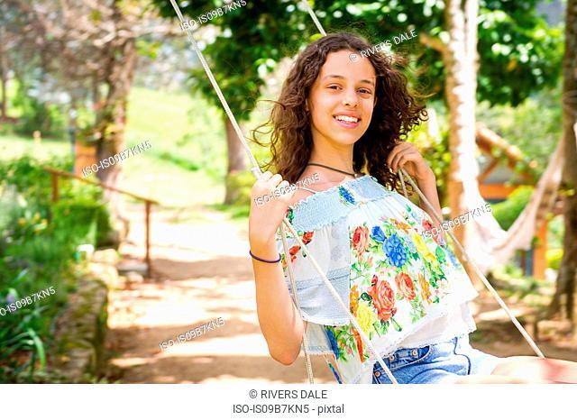 Girl on swing, Rio de Janeiro, Brazil