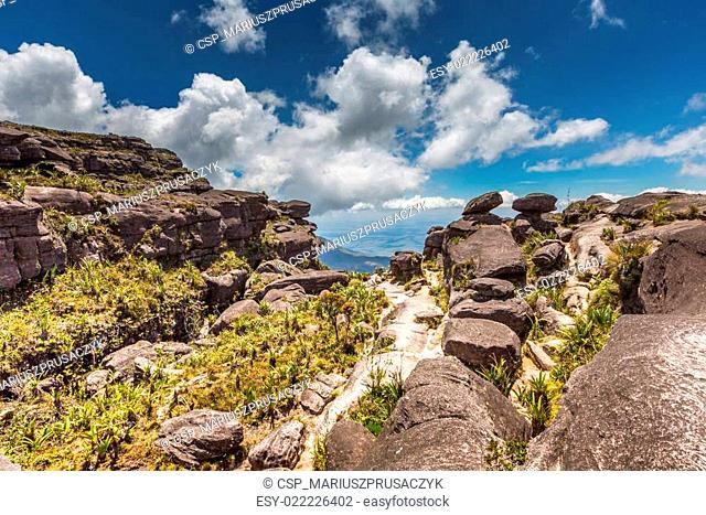 The view from the plateau of Roraima on the Grand Sabana - Venezuela, Latin America