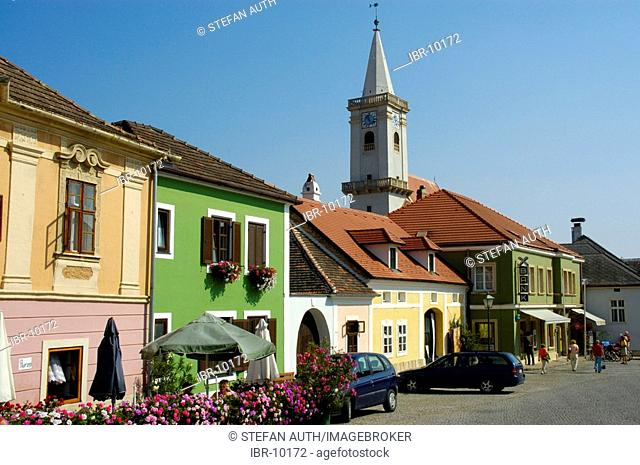 Center with church of Rust at Neusiedler See Burgenland Austria