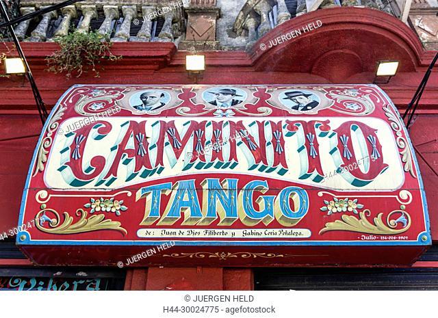 Caminito Tango Sign, La Boca, Buenos Aires, Argentina