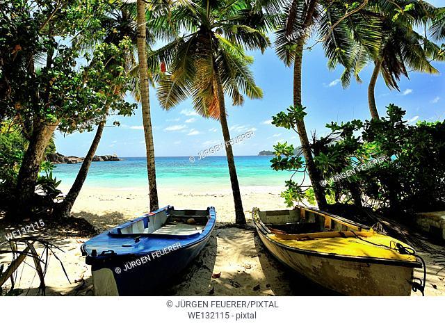 Anse Takamaka, Beach on Island Mahé, Seychelles