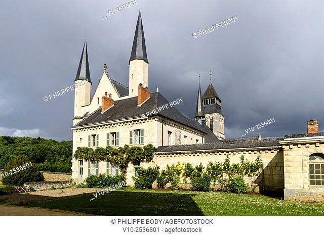 France, Anjou, Maine et Loire, Fontevraud l'Abbaye, Loire Valley on World Heritage list of UNESCO, Abbey of Fontevraud, 12 - 17 th