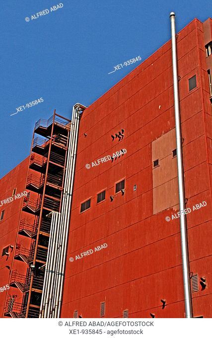 Madaus building, Zona Franca's avenue, Barcelona, Catalonia, Spain
