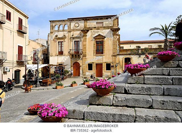 Piazza Duomo Cefalù Sicily Sicilia Italy Italia