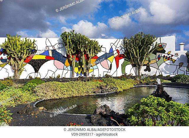 Cesar Manrique Foundation in Tahiche. Lanzarote Island. Canary Islands Spain. Europe