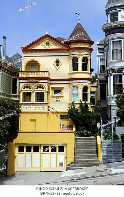 Victorian-style house in San Francisco, California, USA, North America