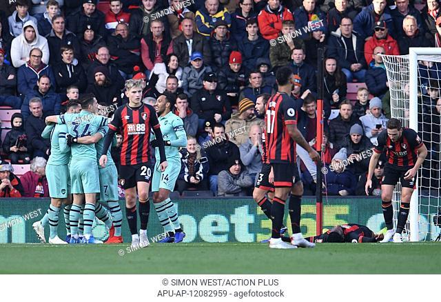 2018 EPL Premier League Football Bournemouth v Arsenal Nov 25th. 25th November 2018, Vitality Stadium, Bournemouth, England; EPL Premier League football