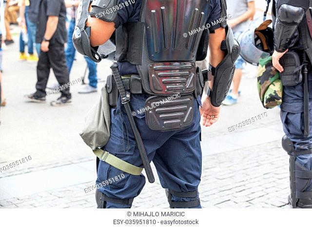Police officers on duty. Counter-terrorism
