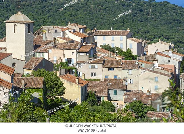 Mountain village of Ramatuelle, Var, Provence-Alpes-Cote d`Azur, France, Europe
