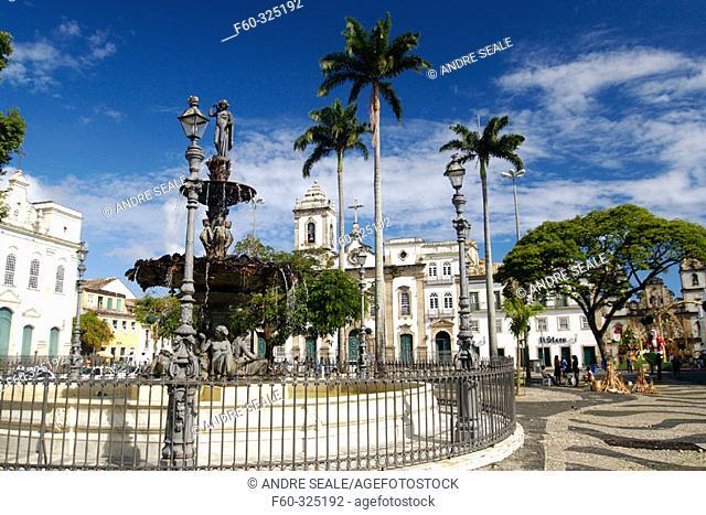 16 de Novembro Square at historic Pelourinho district, Salvador. Bahia, Brazil