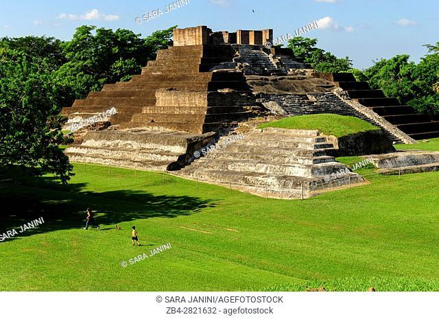 Temple I, Comalcalco Precolumbian Maya Archaeological Site, Tabasco, Mexico, America