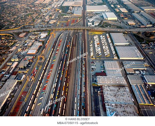 Container Terminal Maywood, Bandini Blvd, Rail Freight Station, Commerce, Los Angeles County, California, USA