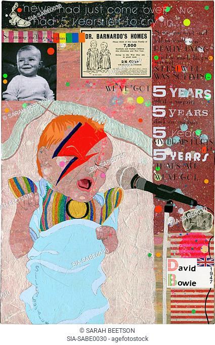Baby boy singing