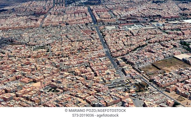 Marrakech aerial view, Morocco, Africa