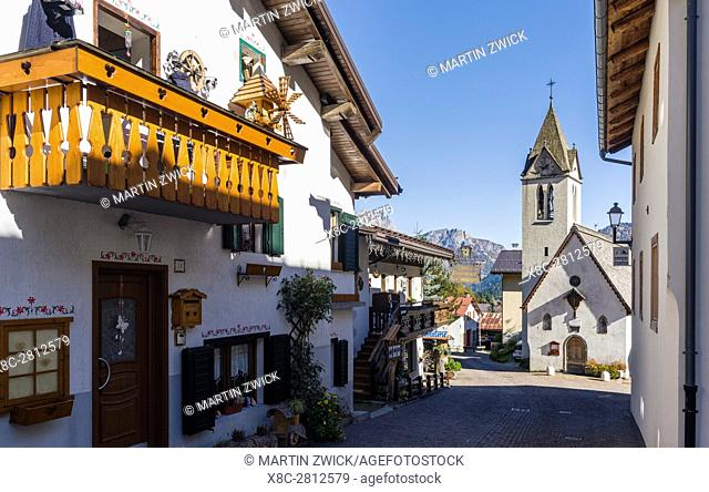 Village Sottoguda,considered to be one of the most beautiful and traditional villages of the Dolomites of the Veneto. The Dolomites of the Veneto are part of...