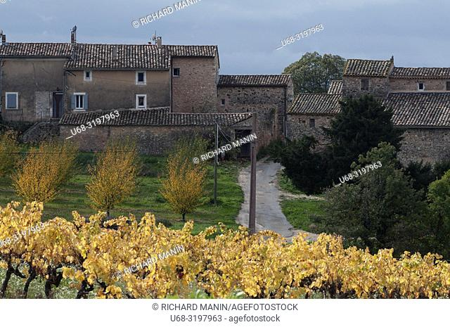 France, Provence, Vaucluse, autumn landscape in the Luberon