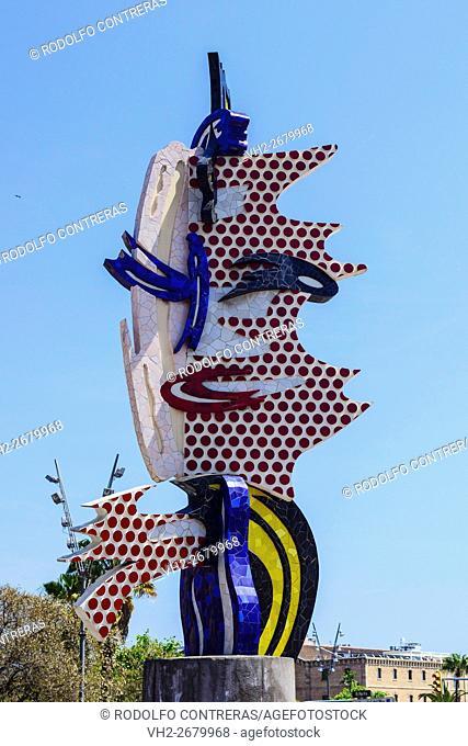 Barcelona's head by Roy Lichtenstein