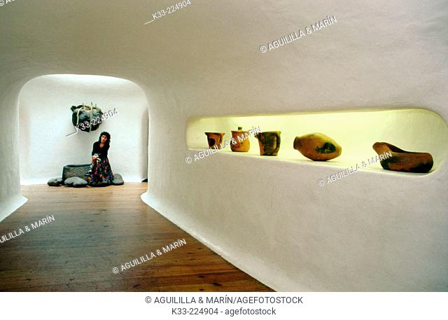 Interior of the Mirador del Río (a viewpoint created by Lanzarote artist César Manrique) in Lanzarote. Canary Islands. Spain