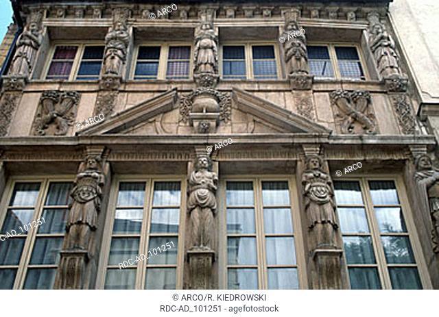 Facade Maison des Cariatides Dijon Cote d'Or Burgundy France
