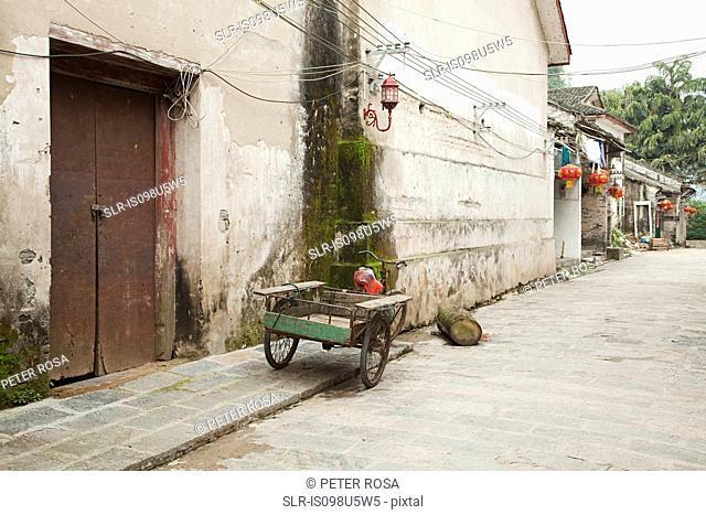 China, guangxi province, street in xingping