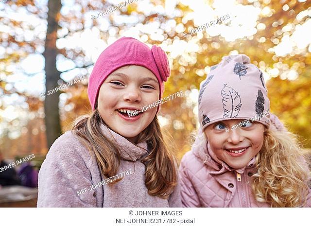 Portrait of happy girls