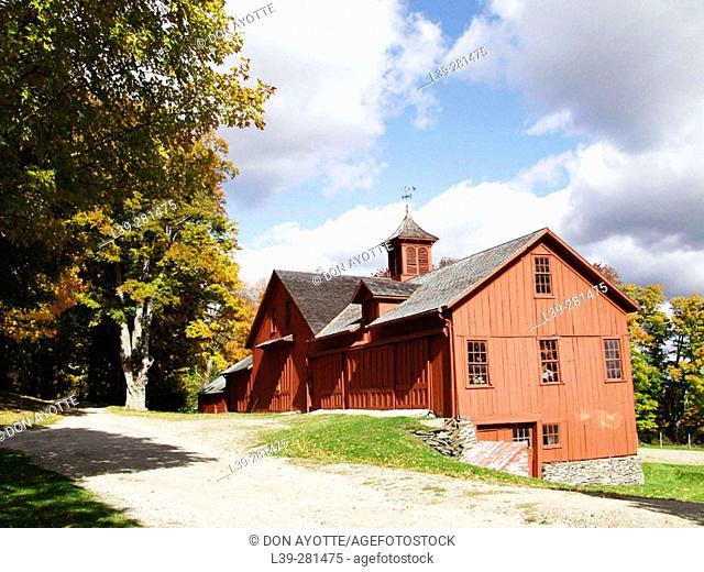 Homestead in Worhington. Massachusetts. USA