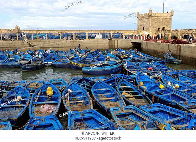 Marocco, Africa, fishing boats, Port, Essaouira