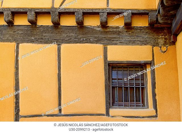 Typical house of jewish quarter in Segovia, city declarated Historical-Artistic Site, and World Heritage by UNESCO